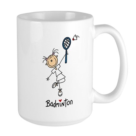 Girl's Badminton Large Mug