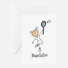 Girl's Badminton Greeting Cards (Pk of 10)
