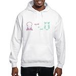 S&O Left/Right Mauve/Lime Hooded Sweatshirt