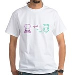 S&O Left/Right Mauve/Lime White T-Shirt