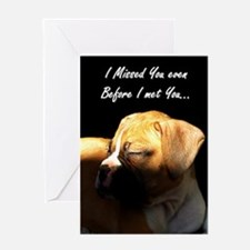 Missing You Boxer Dog Greeting Card
