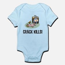 Crack kills! funny Infant Bodysuit
