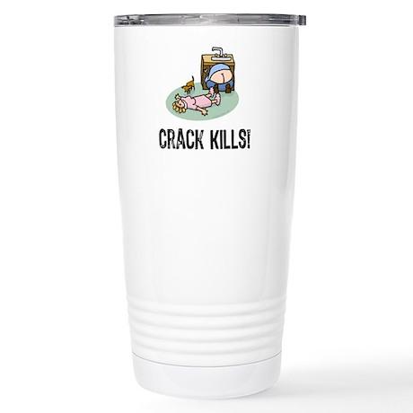 Crack kills! funny Stainless Steel Travel Mug