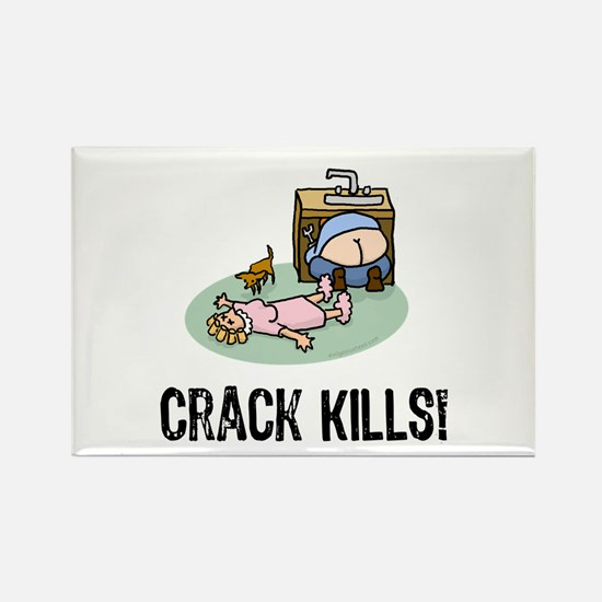 Crack kills! funny Rectangle Magnet