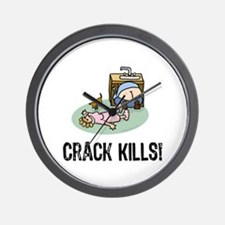 Crack kills! funny Wall Clock