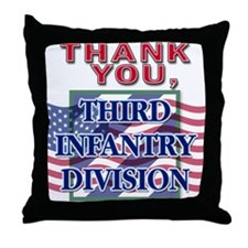 Thank You 3ID Throw Pillow
