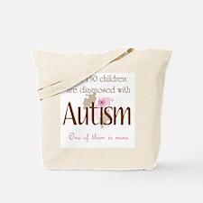 1 in 150 diagnosed autism Tote Bag