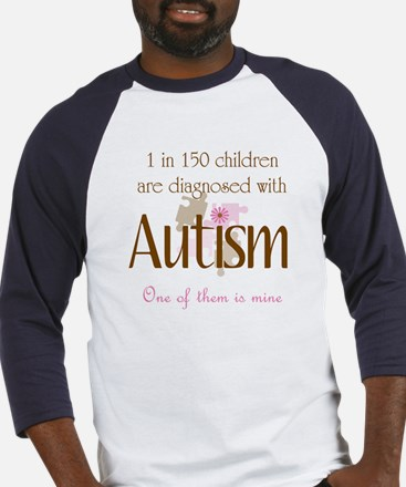 1 in 150 diagnosed autism Baseball Jersey
