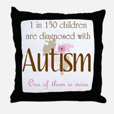 1 in 150 diagnosed autism Throw Pillow