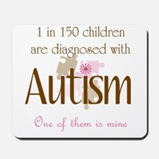 1 in 150 diagnosed autism Mousepad