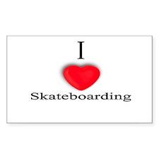 Skateboarding Rectangle Decal