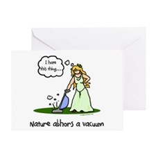 Nature abhors a vacuum funny Greeting Card