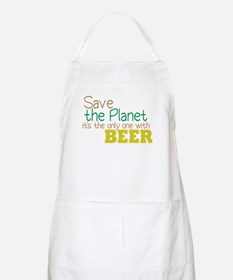 Only Planet with Beer BBQ Apron