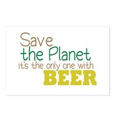 Only Planet with Beer Postcards (Package of 8)