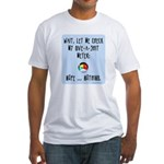 Give-a-shit meter Fitted T-Shirt