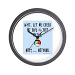 Give-a-shit meter Wall Clock