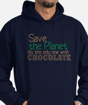 Only Planet with Chocolate Hoodie (dark)