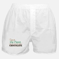 Only Planet with Chocolate Boxer Shorts