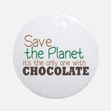 Only Planet with Chocolate Ornament (Round)