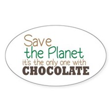 Only Planet with Chocolate Oval Decal