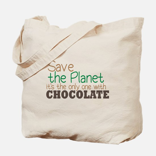 Only Planet with Chocolate Tote Bag