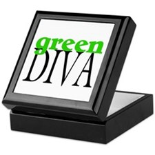 Green Diva Keepsake Box