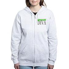 Green Diva Zip Hoodie