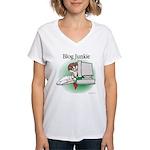 Blog Junkie #1 Women's V-Neck T-Shirt