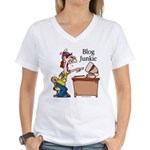Blog Junkie #2 Women's V-Neck T-Shirt