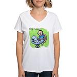 Blog Junkie #3 Women's V-Neck T-Shirt