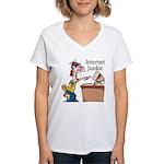 """Internet Junkie"" #2 Women's V-Neck T-Shirt"
