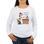 """""""Internet Junkie"""" #2 Women's Long Sleeve T-Shirt"""