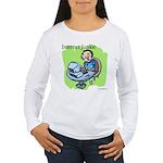 """""""Internet Junkie"""" #3 Women's Long Sleeve T-Shirt"""