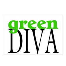 Green Diva Postcards (Package of 8)