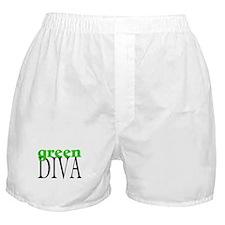 Green Diva Boxer Shorts
