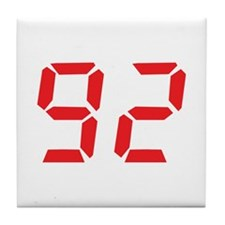 92 ninty-two red alarm clock Tile Coaster