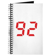 92 ninty-two red alarm clock Journal