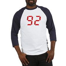 92 ninty-two red alarm clock Baseball Jersey