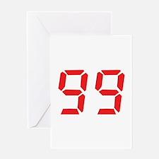 99 ninty-nine red alarm clock Greeting Card
