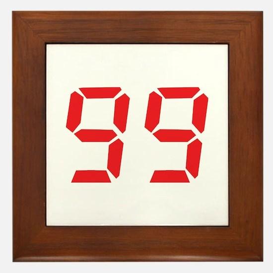 99 ninty-nine red alarm clock Framed Tile
