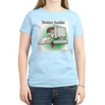 Twitter Junkie 1 Women's Light T-Shirt