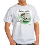 Twitter Junkie 1 Light T-Shirt