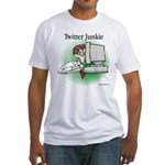 Twitter Junkie 1 Fitted T-Shirt