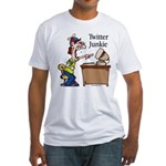 Twitter Junkie 2 Fitted T-Shirt