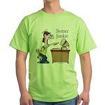 Twitter Junkie 2 Green T-Shirt