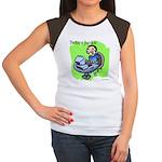 Twitter Junkie 3 Women's Cap Sleeve T-Shirt