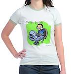Twitter Junkie 3 Jr. Ringer T-Shirt