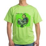 Twitter Junkie 3 Green T-Shirt
