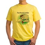 Facebook Junkie 1 Yellow T-Shirt
