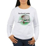 Facebook Junkie 1 Women's Long Sleeve T-Shirt